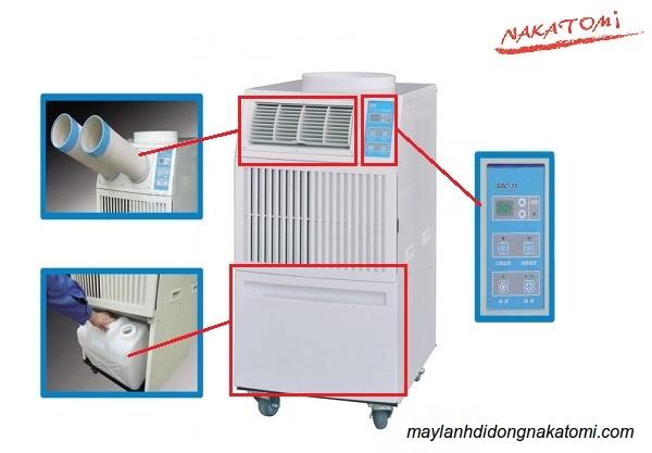 máy lạnh di động Nakatimi sac-3500