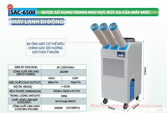 máy lạnh di động SAC-6500